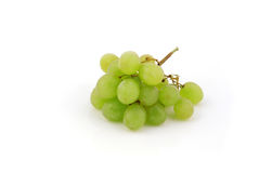Green grapes isolated on white background Stock Images