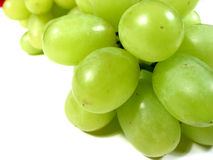 Green grapes macro Stock Photography