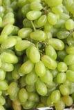 Green grapes at the market Stock Photos