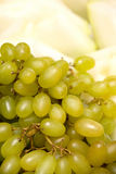Green Grapes and Melon Stock Photos