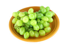 Green grapes on a plate Royalty Free Stock Image