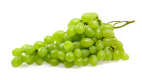 Green grapes on white Royalty Free Stock Photo