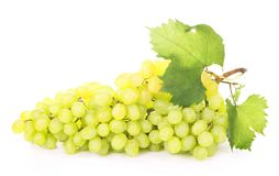Green grapes  on the white Royalty Free Stock Photography