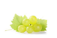 Green grapes. On white background Stock Photo