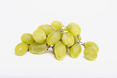 Green grapes on white background Royalty Free Stock Images