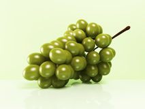 Green grapes on white background Stock Photo