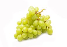 Green grapes on white background Stock Image