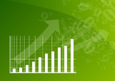 Green graph. Is going up Stock Photo