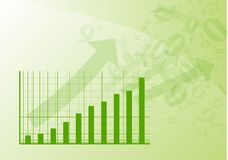 Green graph. Is going up Stock Image