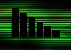 Green Graph. This is a bar Graph Royalty Free Stock Photo