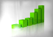 Green Graph Stock Image