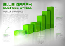 Green Graph Royalty Free Stock Images