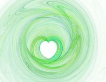 Green graphic heart Stock Photo