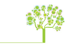 Green graphic tree Stock Image