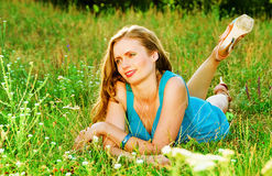 On the green grass Stock Photography