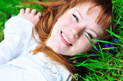 In green grass Stock Photo