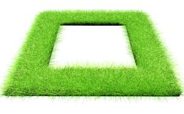 Green grass. In the form of a square with an empty place in the middle Royalty Free Stock Photography