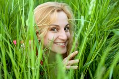 In green grass Stock Image