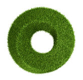 Green grass abstract shape donut Stock Images