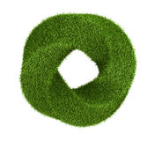 Green grass abstract shape donut Royalty Free Stock Photo