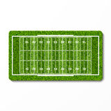 Green grass american football field Stock Image