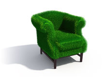 Green grass armchair Royalty Free Stock Photos