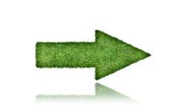 Green grass arrow Royalty Free Stock Image
