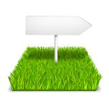 Green grass arrow. Realistic isolated vector illustration Stock Photos