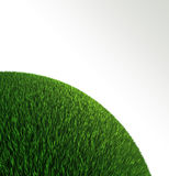 Green grass ball background Royalty Free Stock Photo