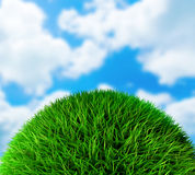 Green grass ball Royalty Free Stock Image
