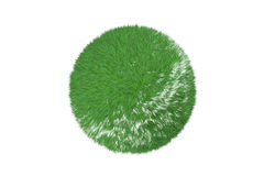 Green grass ball isolated on white. Stock Image