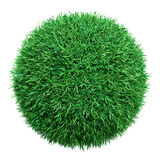 Green grass ball. Isolated on white Royalty Free Stock Photos