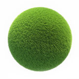 Green Grass Ball on white background Royalty Free Stock Photos