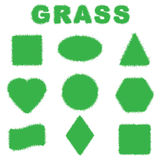 Green grass banners, vector illustration. Royalty Free Stock Photos