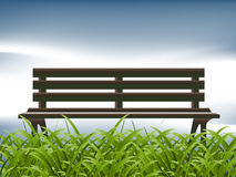 Green Grass and bench royalty free illustration
