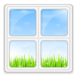 Summer behind the Window Royalty Free Stock Image