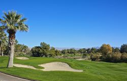 Furnace Creek Golf Course Royalty Free Stock Photography