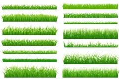 Green grass borders. Green grass collec royalty free illustration