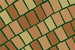 Green grass and brown stones hand drawn background royalty free illustration