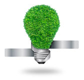 Green grass bulb as symbol Stock Image