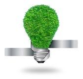 Green grass bulb as symbol Stock Image