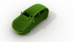 Green grass car Stock Images