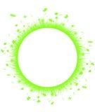 Green grass on circle Stock Photos