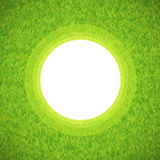 Green grass circle frame Royalty Free Stock Images