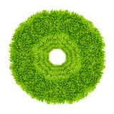 Green grass circle frame isolated Royalty Free Stock Images