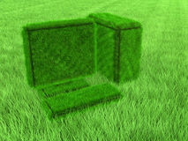 Green grass computer Stock Images