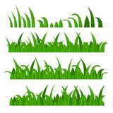 Green Grass Constructor on White. Vector Stock Images