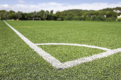 Green grass and corner lines Royalty Free Stock Photo