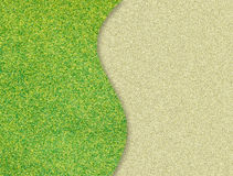 Green grass curve on sand Stock Image