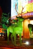 Green grass deer sculpture Royalty Free Stock Photography